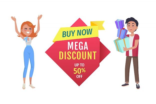 Mega discount banner