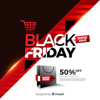 Mega discount black friday bannière