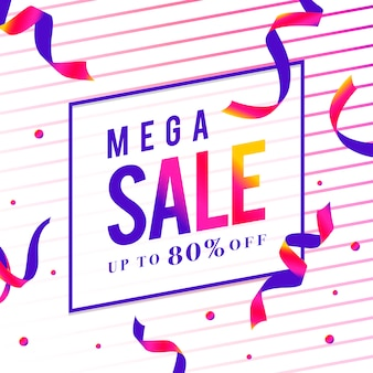 Mega sale 80% de réduction signe