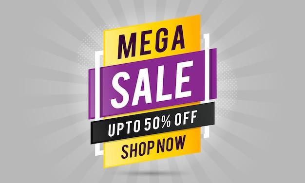 Mega sale label design