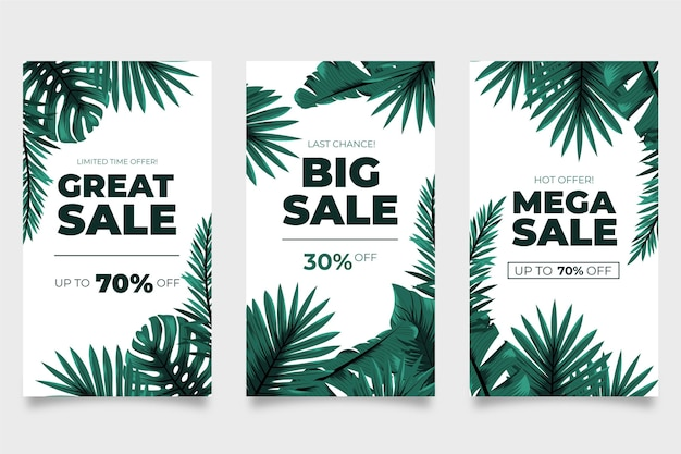 Mega sales tropical leaves instagram story