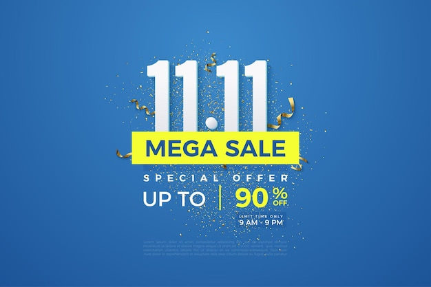 Méga vente au 1111 avec numéros et festivités