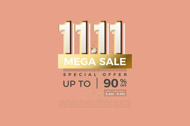 Méga vente au 1111 avec des numéros modernes