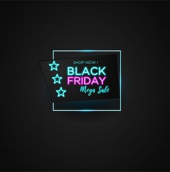 Méga vente du vendredi noir avec effet néon
