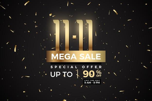 Mega vente et limitée avec des numéros et des plaques d'or