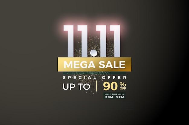 Méga vente et remise en promo des ventes à 1111 en plaqué or