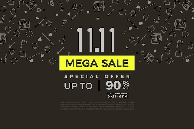 Méga vente et remise en promo des ventes au 1111