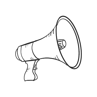 Mégaphone doodle