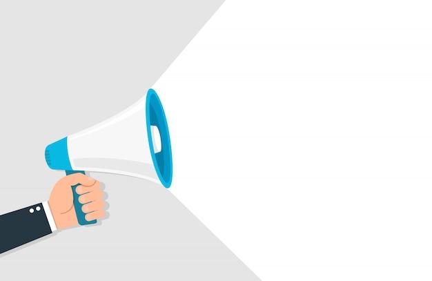 Mégaphone pour symbole de discours publicitaire