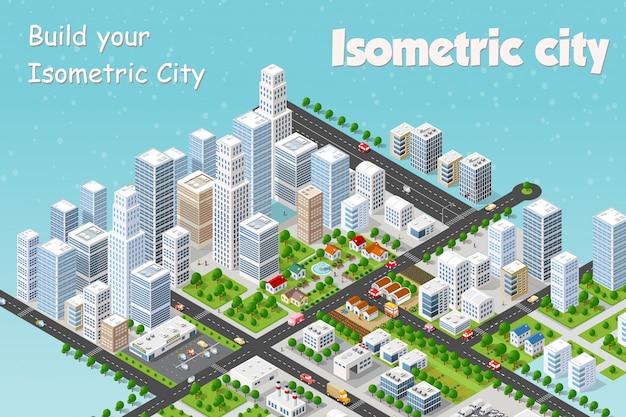 Megapolis 3d isométrique