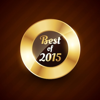 Meilleur de 2015 badge d'or