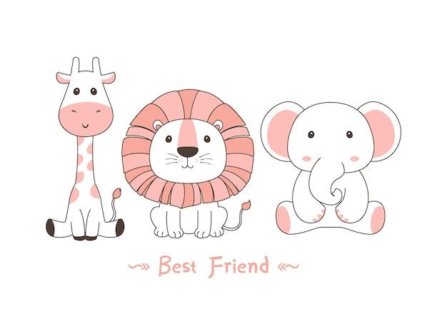 Meilleur ami pour toujours lion