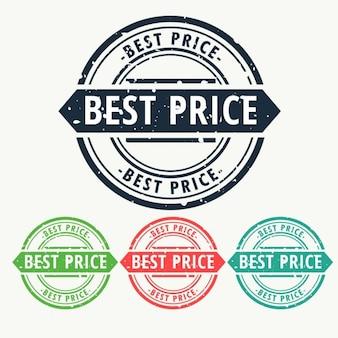 Meilleur caoutchouc de prix signe de timbre ensemble