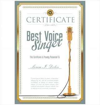 Meilleur certificat de chanteur