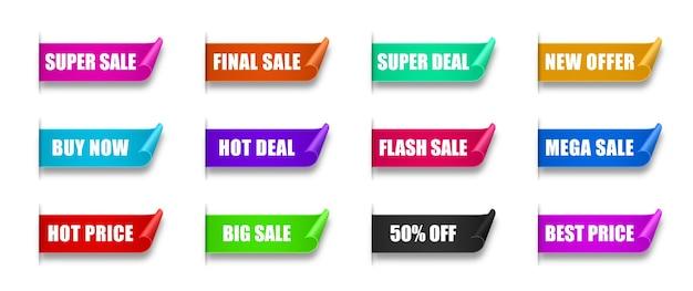 Meilleur choix commande maintenant offre spéciale nouvelles et grandes bannières de vente étiquettes de produits de la boutique