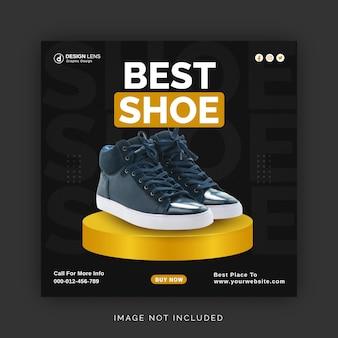 Meilleur concept d'annonce de collection de chaussures instagram bannière publicitaire modèle de poste de médias sociaux