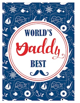 Le meilleur design de cartes papa au monde