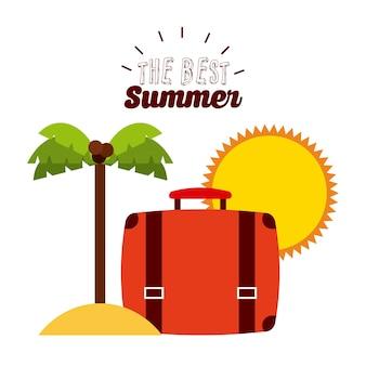 Le meilleur design d'été, illustration vectorielle illustration eps10