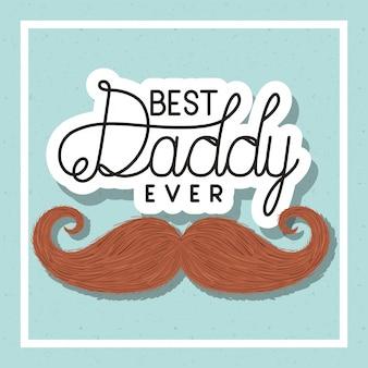 Meilleur design de papa et de moustache