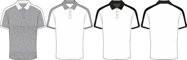 Meilleur design de polo illustration vectorielle de dessin technique plat