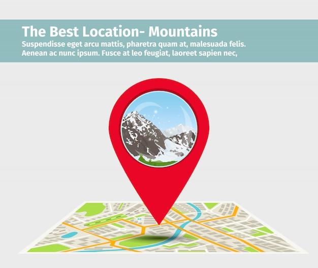 Le meilleur emplacement de montagne
