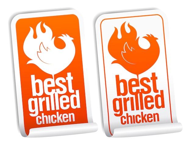 Meilleur ensemble d'autocollants de poulet grillé