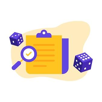Meilleur examen de casino avec deux dés de jeu