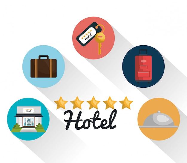Meilleur hôtel set icônes de services