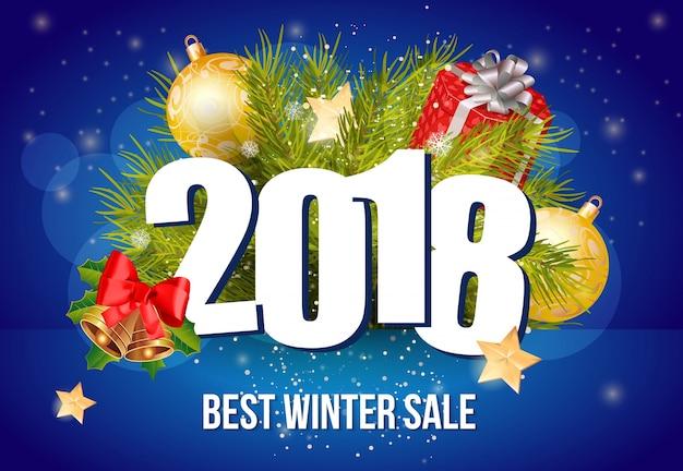 Meilleur lettrage de vente d'hiver