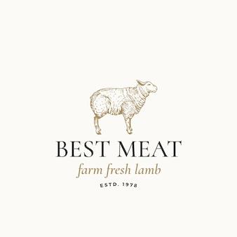 Meilleur logo d'agneau frais de la ferme de viande