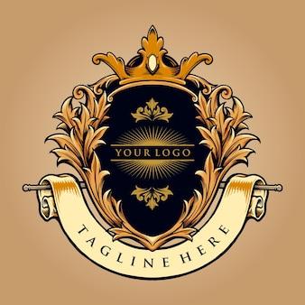 Meilleur logo king badge logo luxury company illustrations vectorielles pour votre travail logo, t-shirt de mascotte, autocollants et conceptions d'étiquettes, affiche, cartes de voeux, entreprise ou marques de publicité.