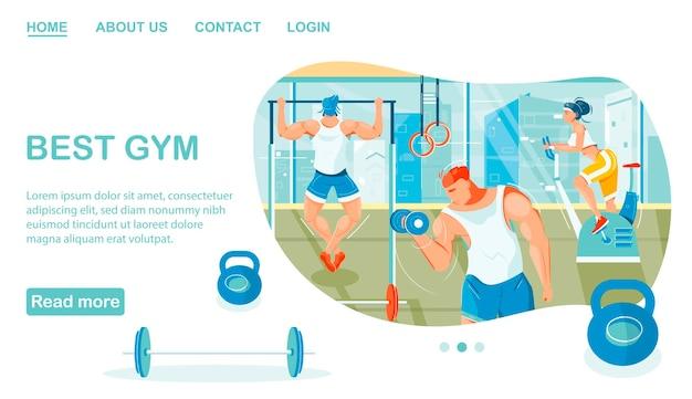 Meilleur modèle de page de destination de gym