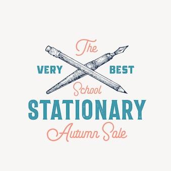 Meilleur modèle de signe, symbole ou logo vectoriel abstrait stationnaire scolaire.