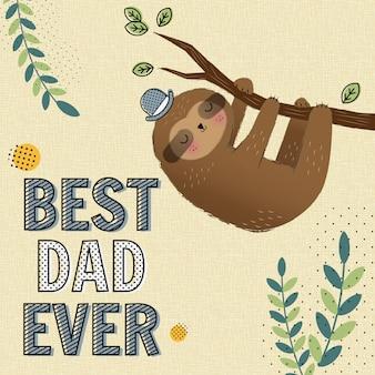 Meilleur papa jamais carte