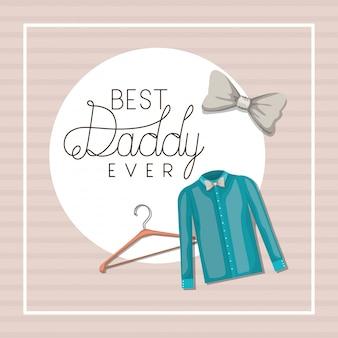 Meilleur papa jamais et conception de tissu