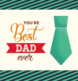 Meilleur père jamais heureux fête des pères