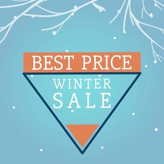 Meilleur prix de vente d'hiver vecteur