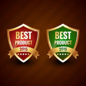 Meilleur produit 2015 de l'année doré