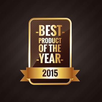 Meilleur produit de l'année 2015 doré