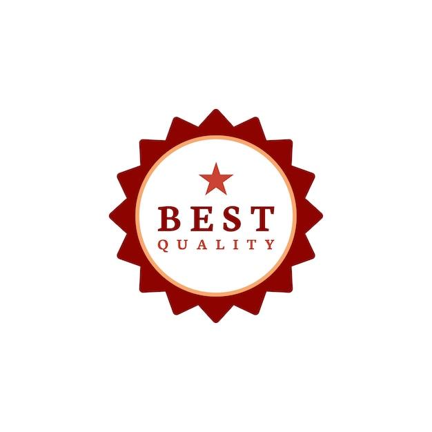 Meilleur vecteur de timbre de récompense de qualité