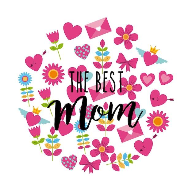 La meilleure carte de voeux maman