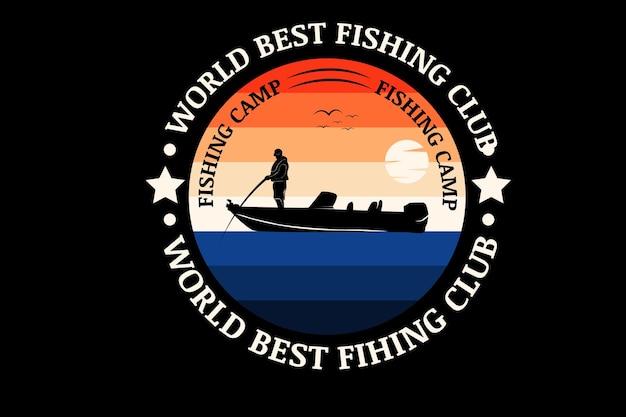 Meilleure couleur de pêche au monde orange et bleu