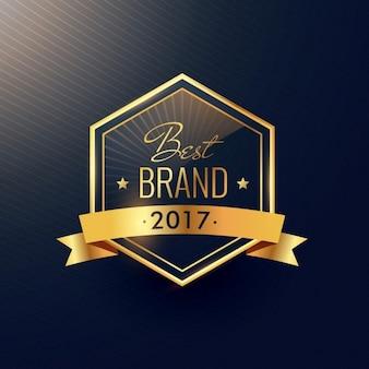 Meilleure marque 2017 conception de l'étiquette d'or