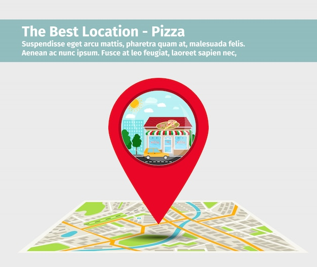 Meilleure pizza point sur la carte