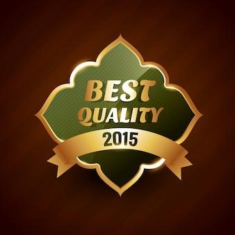Meilleure qualité de badge d'or 2015