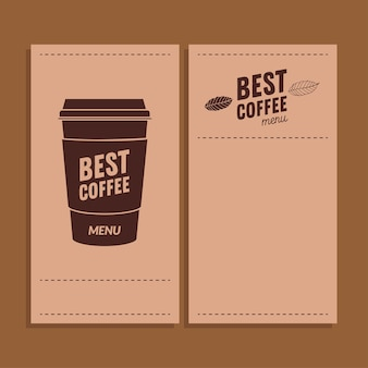 Meilleure tasse de café sur le thème des cadres de papiers