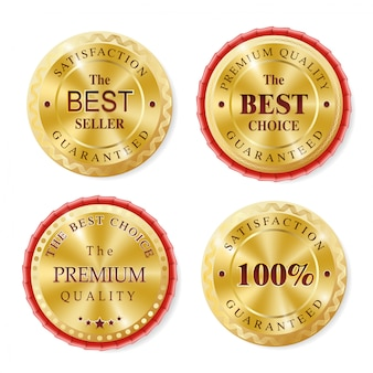 Meilleure vente de badges dorés