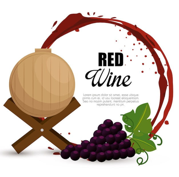 Meilleurs raisins de vin et étiquette de baril