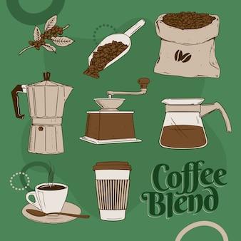 Mélange de café