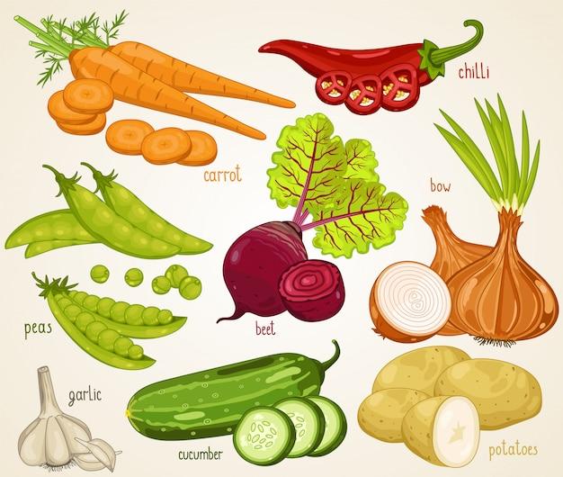 Mélange de légumes. aliments biologiques, ferme.